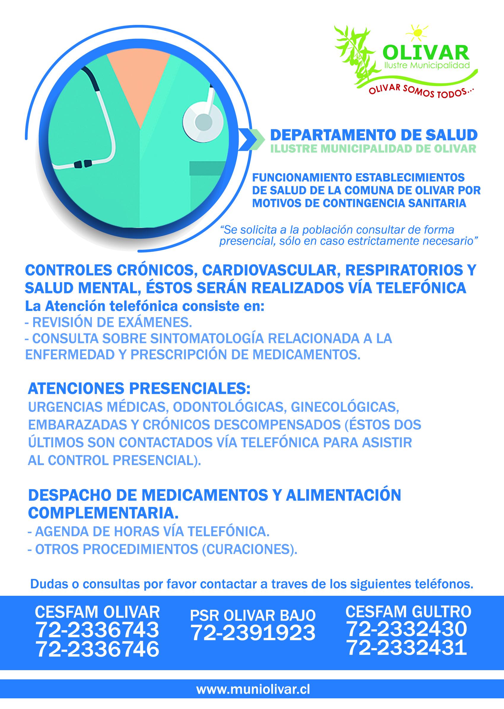 MEDIDAS Y FUNCIONAMIENTO DEL DEPARTAMENTO DE SALUD DURANTE LA EMERGENCIA COVID 19